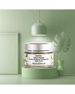 Jasmine, Mulberry, Wheatgerm - Night Face Cream - Dry Skin - Paraben Free