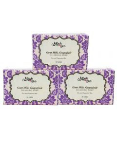 Goat Milk, Grapefruit Cleansing Soap - Pack of 3