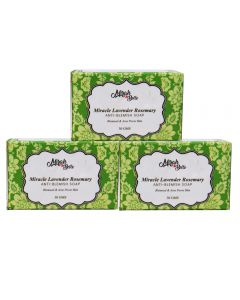 Miracle Lavender Rosemary Anti - Blemish Soap  - Pack of 3