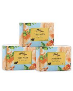 Mirah belle organic handmade tulsi haldi purifying soap