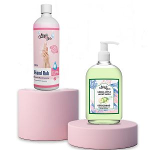 Green Apple Hand Cleanser and Hand Rub Sanitizer (combo-pack)