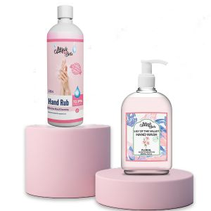 Hand Rub Sanitizer (500 ML) and Lily of the Valley Hand Wash (250 ML)