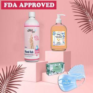 Coronavirus Precaution Kit - FDA Approved Sanitizer, Hand Wash, Face Mask, Antiseptic Soap - Must Buy!