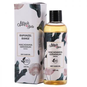 Macadamia Nut, Geranium, Argan - Natural Dry Frizzy Hair Oil