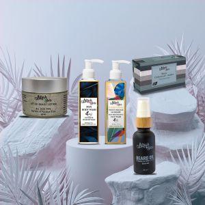 Mens Grooming Kit - Cleansing & Brightening - Certified Organic - Sulfate & Paraben Free