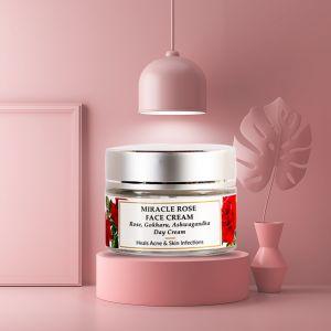 Rose, Mulberry, Gokharu Seed - Natural Face Cream - Dry Skin - Paraben Free