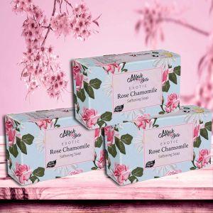 Organic - Rose, Chamomile - Skin Softening Soap (Pack of 3) - 375g