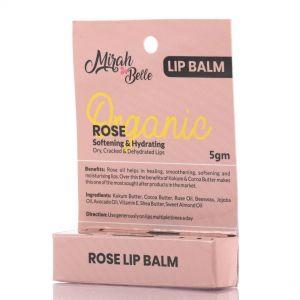 Organic Rose Lip Balm - Softening & Hydrating