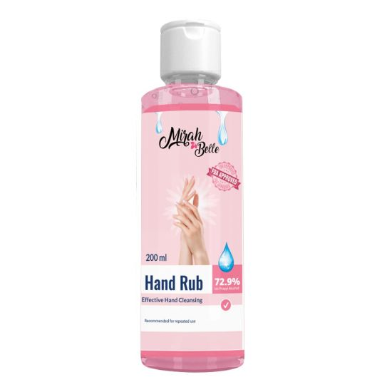 Hand Rub Sanitizer (200ml) - Kills Bacteria, Germs and Virus - Best for Men, Women and Children