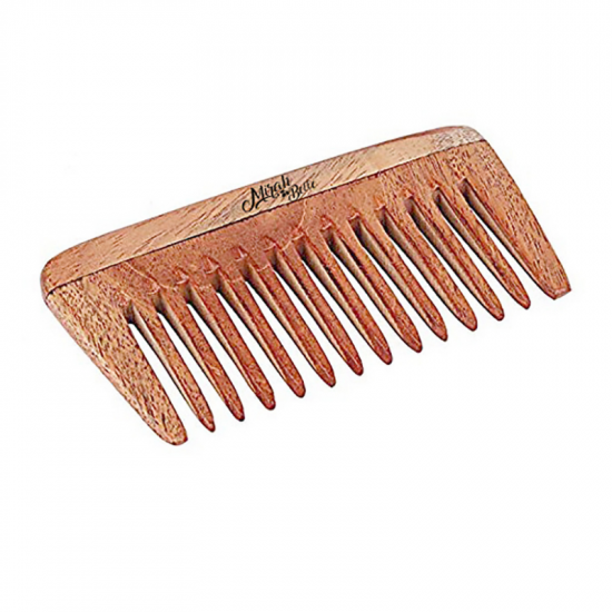 Neem Wood Comb -  Natural Detangling Wooden Comb