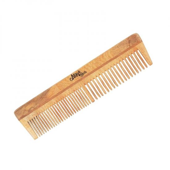 Neem Wood Comb - Wooden Wide Teeth Comb