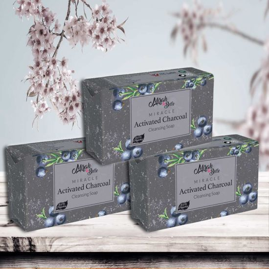 Activated Charcoal - Handmade Organic Soap (Pack of 3) - 375g