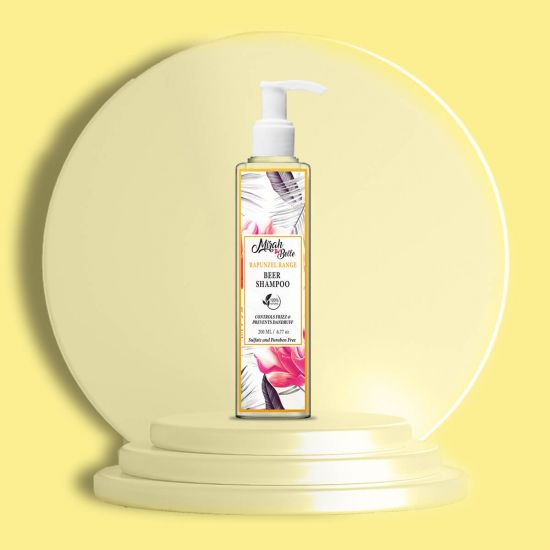 Beer, Lemongrass - Natural Shampoo - Dandruff & Frizzy Hair - Sulfate & Paraben Free