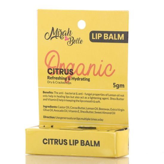 Organic Citrus Lip Balm - Refreshing & Hydrating