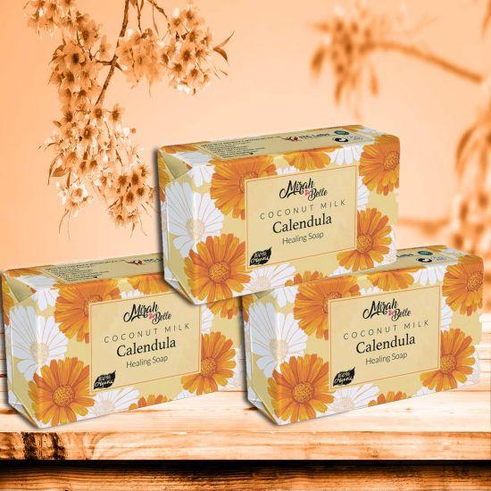 Mirah Belle Coconut Milk Calendula Healing Handmade Soap