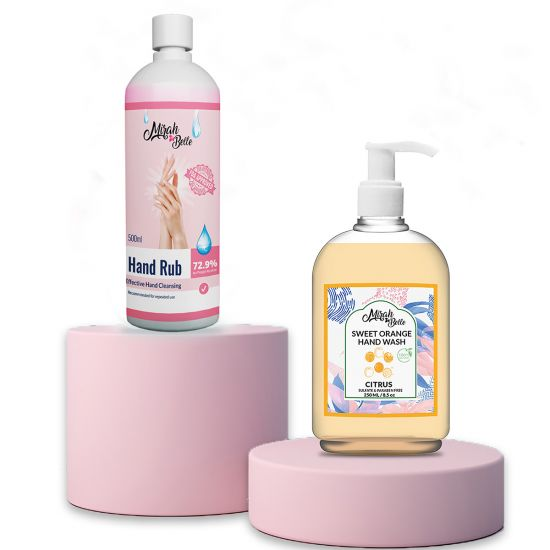 Sweet Orange Hand Wash (250 ML) & Hand Rub Sanitizer (500 ML)