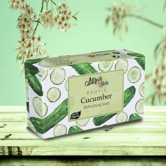 Fresh Cucumber - Handmade Organic Soap - Cooling & Refreshing - Face & Body