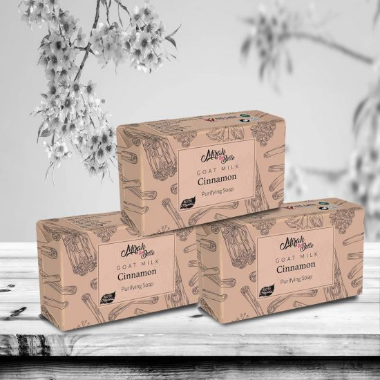 Mirah Belle Goat Milk Cinnamon Purifying Handmade Soap