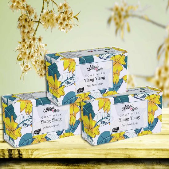 Organic Goat Milk, Ylang Ylang Soap (Pack of 3) - 375g