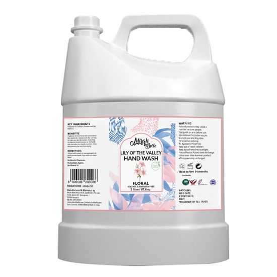 Lily of the Valley - Natural Hand Wash Can (2 Ltr) - Sulfate & Paraben Free