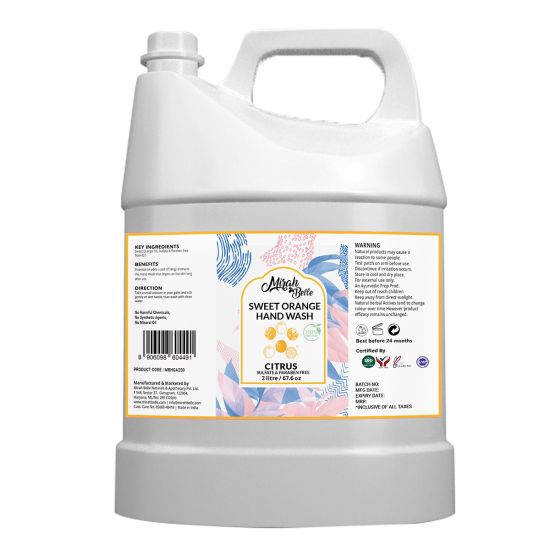Sweet Orange - Natural Hand Wash Can (2 LTR) - Sulfate & Paraben Free