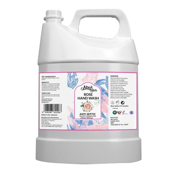Rose - Dry Skin - Natural Hand Wash Can (2 Ltr) - Sulfate & Paraben Free