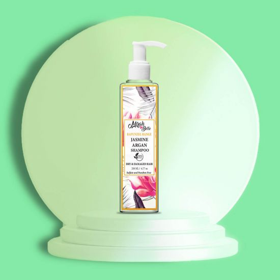Jasmine, Argan - Natural Shampoo - Dry & Damaged Hair - Sulfate & Paraben Free