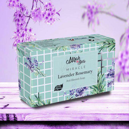 Lavender, Rosemary Anti Blemish Soap Bar - Organic, Handmade