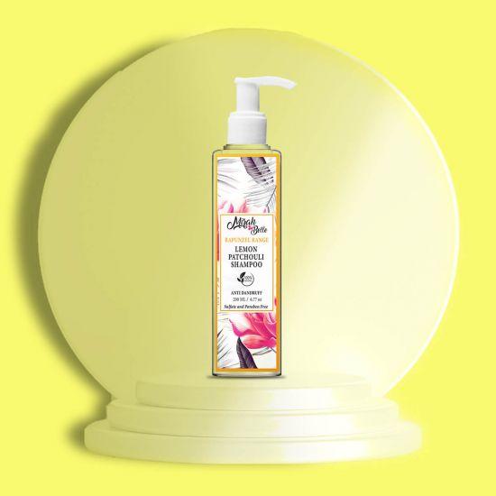 Lemon, Patchouli - Natural Shampoo - Anti - Dandruff - Sulfate & Paraben Free