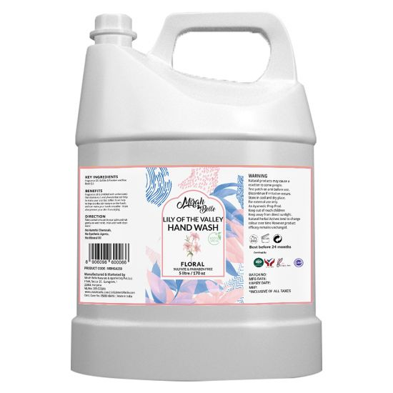 Lily Hand Wash Can (5 LTR) - FDA Approved - Bulk Pack for Refill - Best for Men, Women and Children - Sulfate and Paraben Free - 5000 ML