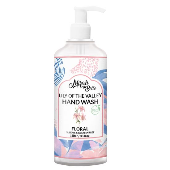 Lily of the Valley - Natural Hand Wash - Sulfate & Paraben Free- 1 litre - FDA Approved