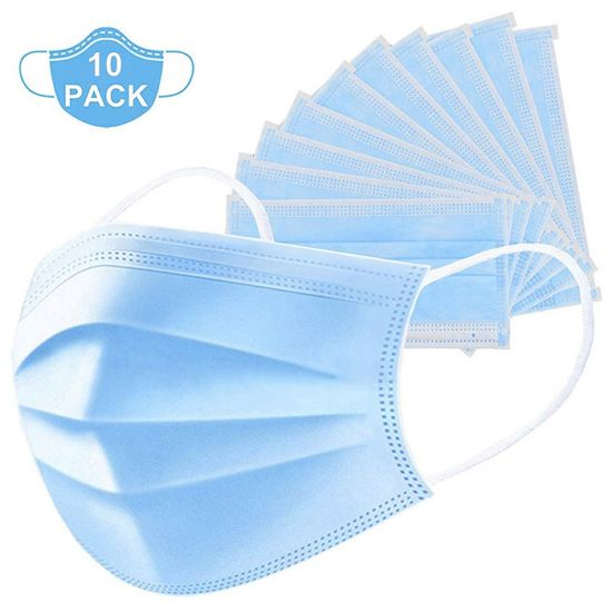 Disposable Surgical Medicated Face Mask - Stops 99.9% Germs (Pack of 10)