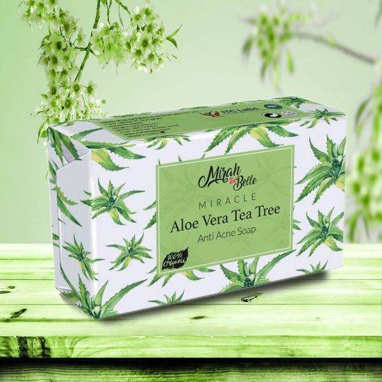 Aloe Vera, Tea Tree - Organic Handmade Soap - Acne & Blemishes - Face & Body