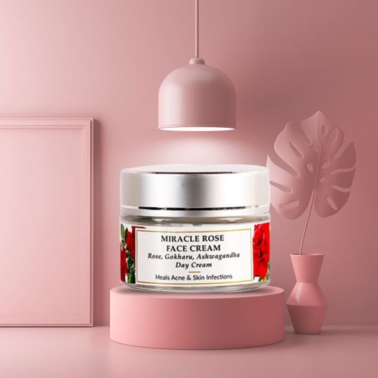 Rose, Mulberry, Gokharu Seed - Miracle Rose Face Cream