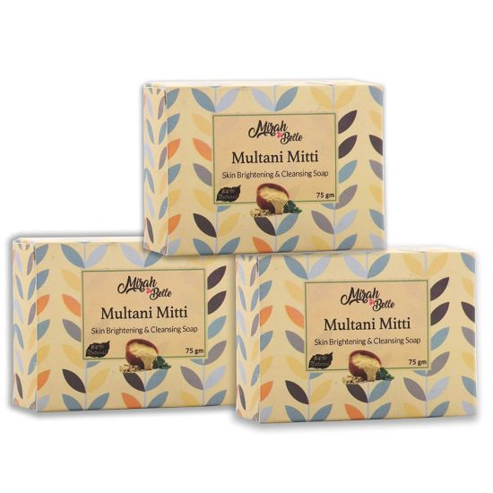 Mirah belle Multani mitti skin brightening & cleansing soap