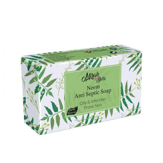 Neem Anti - Septic Soap Bar - Vegan and Cruelty Free - 125 gm