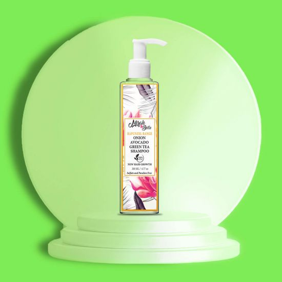 Onion, Avocado, Green Tea - Natural Shampoo - New Hair Growth - Sulfate & Paraben Free
