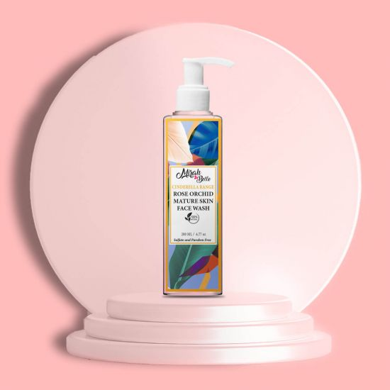 Rose, Orchid - Natural Face Wash - Anti Aging - Sulfate & Paraben Free