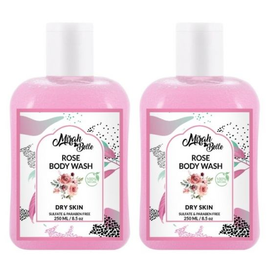 Mirah Belle Rose Body Wash for Fry Skin