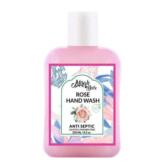 Rose Dry Skin - Natural Hand Wash (250 ML) - Sulfate & Paraben Free