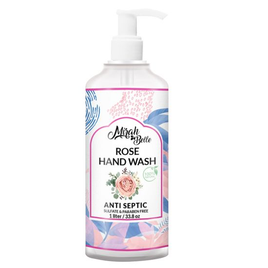 Rose - Dry Skin - Natural Hand Wash - Sulfate & Paraben Free - 1 Litre