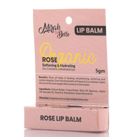 Organic Rose Lip Balm - Softening & Hydrating