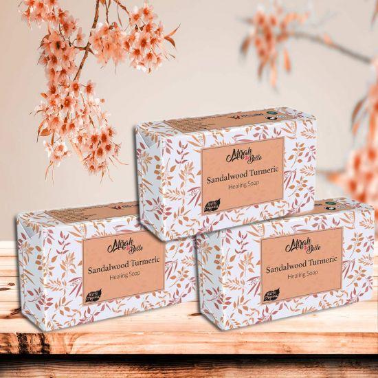 Mirah Belle Sandalwood Turmeric Healing Handmade Soap