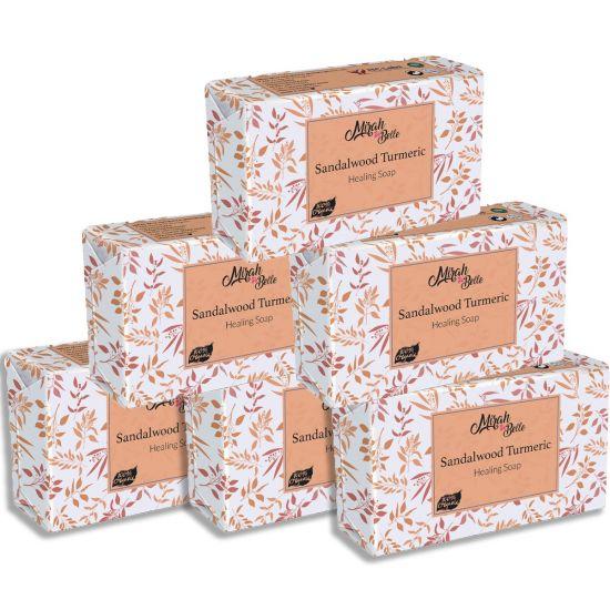 Mirah belle organic sandalwood Turmeric healing soap