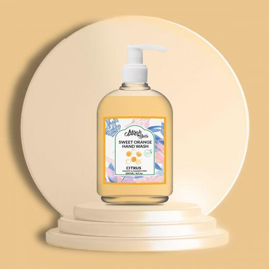 Sweet Orange - Natural Hand Wash (250 ML) - Sulfate & Paraben Free