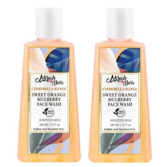 Mirah Belle Naturals Sweet Orange Skin Brightening Face Wash