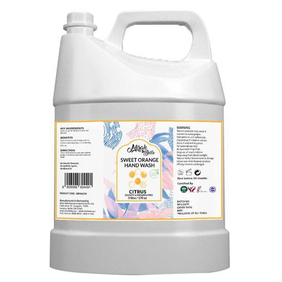 Sweet Orange Hand Wash Can (5 LTR) - Bulk Pack for Refill