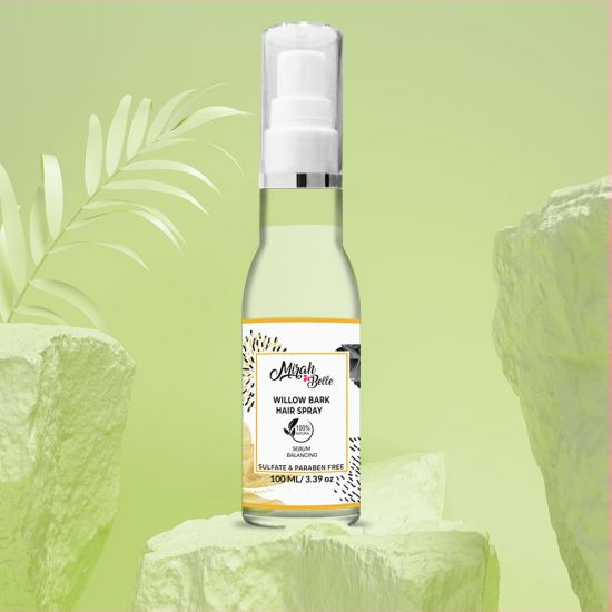 Willow Bark - Green Tea - Oily Scalp Natural Hair Spray - Alcohol Free