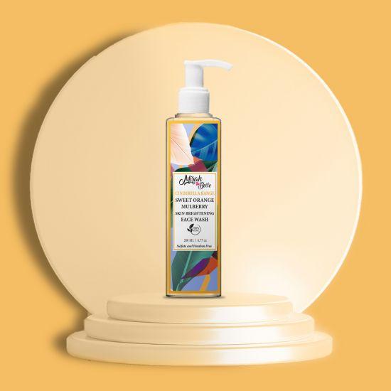 Sweet Orange, Green Tea - Natural Face Wash - Skin Brightening - Sulfate & Paraben Free